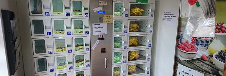 Heidelbeeren Verkaufsautomat